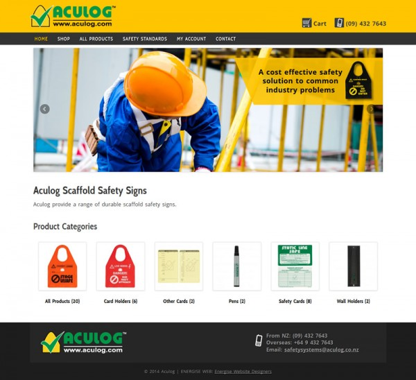 Aculog Scaffold Safety Signs