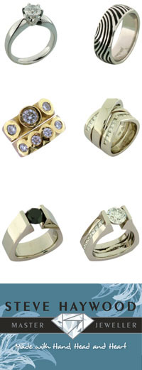 Hand made jewellery from master jeweller steve haywood